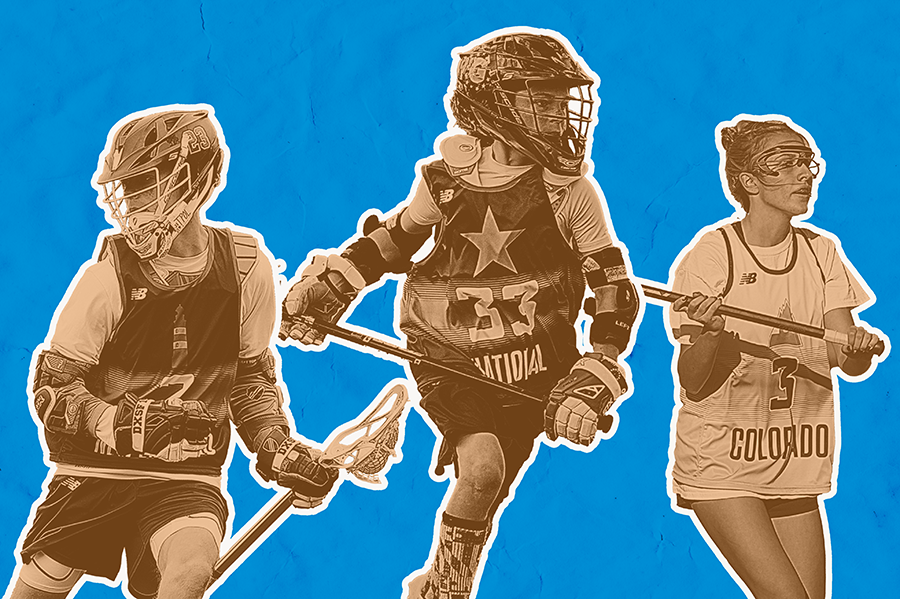 Lacrosse player collage